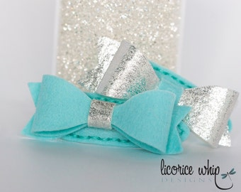 Barrettes - Hair Clips - Bow - Wool Felt - Baby - Girl - Hair Accessory - Silver - Gold - 10 Colours Available