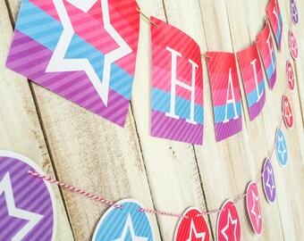 America's Girl. Banner. PERSONALIZED. DIY Printable Design. Pinkadot Shop