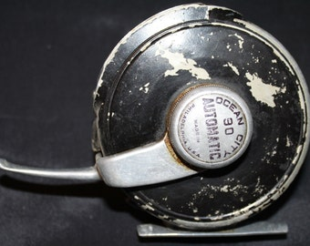 Ocean Fly Fishing Reel- Vintage Ocean City No.90 Automatic Fly Reel