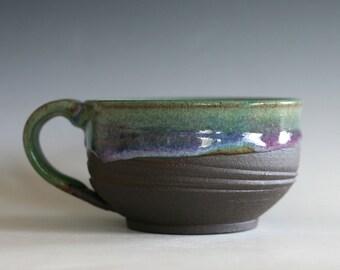 Cappuccino Mug, 20 oz, Pottery Coffee Mug, handmade ceramic soup bowl, handthrown ceramic stoneware pottery mug, unique coffee mug