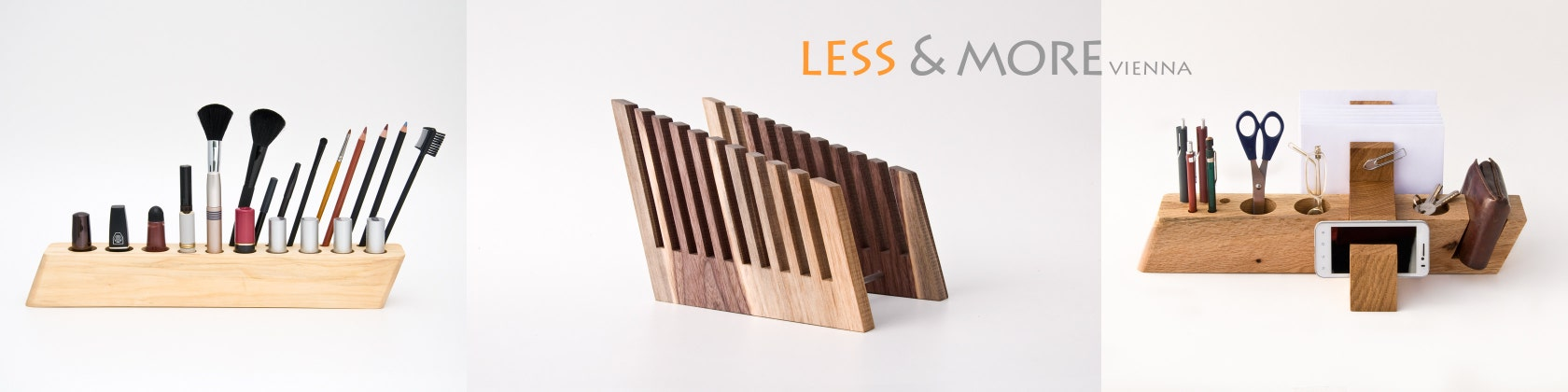 View Makeup Organizers By Lessandmore On Etsy - Cosmetic makeup organizer wood countertop organizer by lessandmore