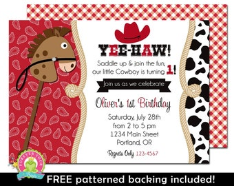 Cowboy Birthday Invitation / Western Invitation / Cowboy Party Invite / Cowboy Invitation / Cowboy Party / Birthday Invitation