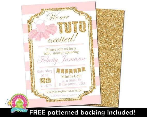 baby shower invitations glitter baby shower invite tutu invite