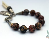 A Leopard lay amidst the trees - Leopardskin jasper, stackable, gemstone bracelet in earthtones