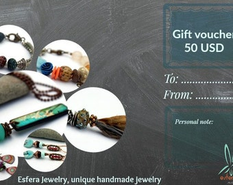 50 USD E-gift voucher from Esfera Jewelry
