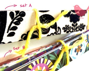 Scrap offcuts, pattern only Set a left - 75 pieces