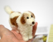 Custom Felted Dog - Goldendoodle - Needle Felted Dog Portrait - Gift Ideas