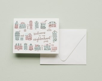 Letterpress Card- Welcome to the Neighborhood!