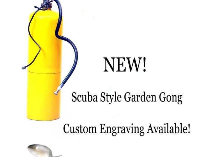 Scuba Diver Garden Gongs, Octopus Regulator, Diving Buddy Buddies Partner, Dive Master Gift, Air Tank Hoses Ornament Oxygen Masks Supply Pal