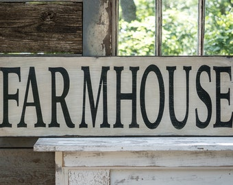 Large rustic farmhouse sign