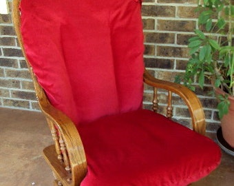 Glider Rocker Slip Cover FOR YOUR Glider Cushions -RED  Slipcover or Any Color you choose.