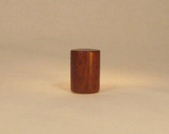 """Lamp Finial Wooden Finial - Black Walnut - Drum Pattern 2, 1.5"""" tall x 1.1"""" dia"""