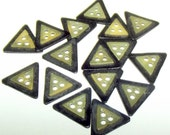 Vintage Buttons 3 Hole Triangle celluloid layered
