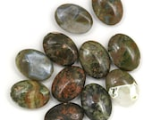 DESTASH. Rhyolite Beads - 18x13mm Puffed Oval - 11 Pieces