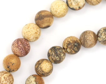 Picture Jasper Beads - Matte Finish - 6mm Round - Limited Quantity