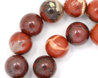 Apple Jasper Beads - 10mm Round