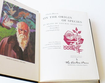 Darwin, Charles On The Origin of the Species, Easton Press, 1st Edition, First Printing, Books, Literature Fiction, Literary Fiction, Easton