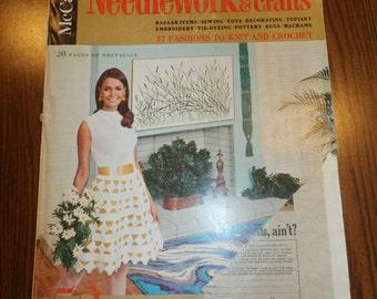 Vintage McCall's Needlework and Crafts Pattern Book Magazine Spring Summer 1969