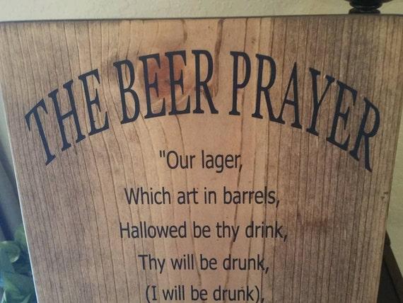 Funny Beer Art Beer Prayer Sign Bar Sign Man Cave Wall