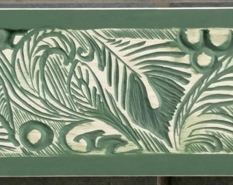 Abstracts Botanical Carved on Green