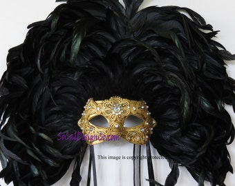 Feather Mask, Masquerade Mask, Couture Masquerade Masks, Designer Masquerade Mask, Mask For Woman, Masquerade, Expensive Mask, Feather Masks