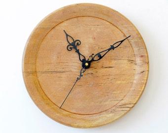 Spalted Beech Wall Clock, Turned Wood Clock, Wall Clock