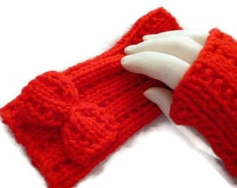 Fingerless Mittens, Red Fingerless Mittens, Knit Gloves, Womens Wristwarmers, Fall Accessories, Winter Accessories