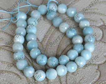 Single 10mm faceted Amazonite beads,Amazon round stone Loose Beads,amazon gemstone beads loose strand