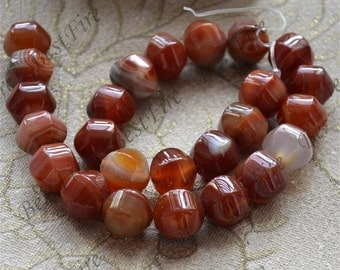 Charming 16mm red agate pumpkin Gemstone Loose Beads,agate gemstone loose bead,semi-precious stone bead
