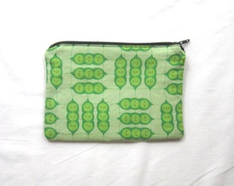 Happy Peas in a Pod Coin Purse/Zipper Pouch