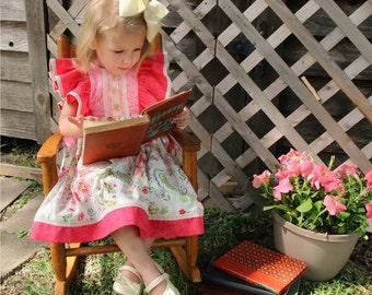 Spring Fling Ruffled Pinafore Dress sizes 6/12mos to 8