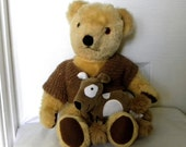 Gwentoys Mohair Bear - Gwentoys 1980's Teddy Bear - Bear with Working Squeaker