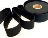 1 Yard Black Elastic, 1 3/4 Inch Wide, Knitted Black Elastic, Sewing Notions, elas014/1