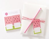 Watermelon Gift Tags | Gift Wrapping with Baker's Twine | Set of 8