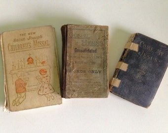 Vintage Holy Books - Set of 3