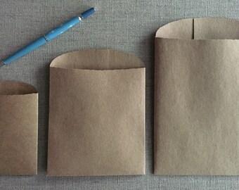 Kraft Bags - Gift Bags-three sizes - heavyweight brown Kraft