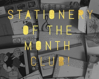 Stationery of the Month Club - Snail Mail Subscription - Stationery Set - Stationery Gift Subscription