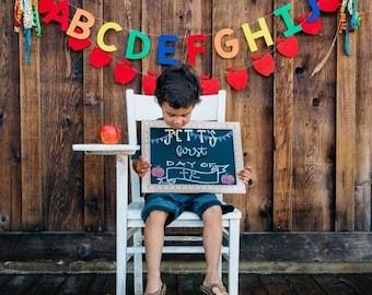 Alphabet & Apple Felt Banners, Garlands, Buntings