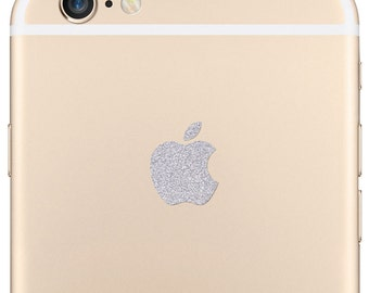 Sparkling Silver Apple iPhone 7 Plus and 6 Plus Logo Decal