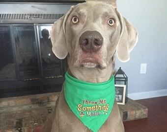 Throw Me Something Mister Mardi Gras Dog Bandana