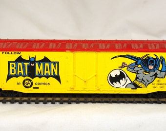 Batman boxcar  Bat Man DC comics HO  made by Tyco