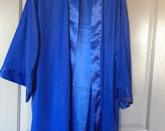 Victoria's Secret robe/duster/lounger Open front/medium/large satin lining/ Open front tunic/top/missing tie/periwinkle color