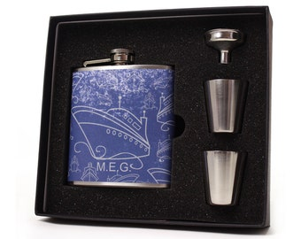 Anchors Aweigh Liquor Hip Flask Nautical Gift for Men