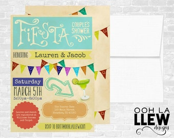 Mexican Fiesta Engagement Party Couples Shower Invitation