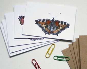 Mini Notecard Set - Butterflies - Pack of 6