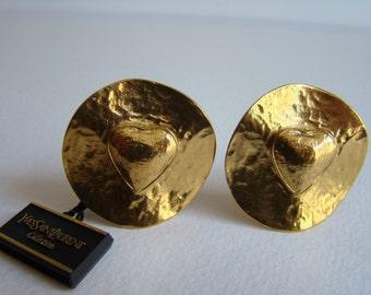 YSL Yves Saint Laurent Heart earrings