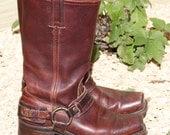 Frye Belted Harness Boots Womans Size 7 M  Color Cognac