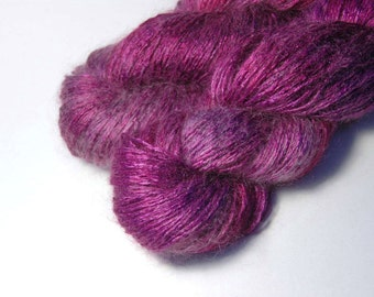REI Tussah Silk Mohair in Mauve Peony - One of a Kind