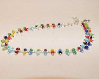 Sterling Bracelet of many Colors