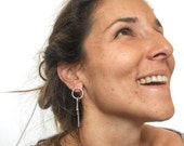 Silver Twigs Earrings, Dangle Twig Earrings, Oxidized Silver Twig Earrings, Twig Studs